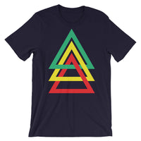 3 Triangles GYR Unisex T-Shirt Abyssinian Kiosk Green Yellow Red Ethiopia Fashion Cotton Apparel Clothing Bella Canvas Original Art