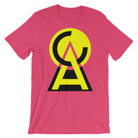 Yellow Black CA Circle Triangle Unisex T-Shirt Abyssinian Kiosk Fashion Cotton Apparel Clothing Bella Canvas Original Art