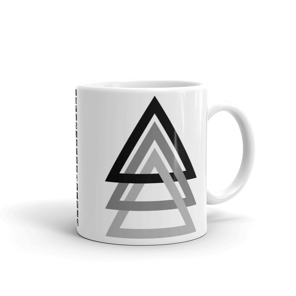 3 Triangles Black to Grey Kaffa Mug