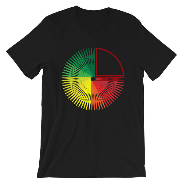 Green to Yellow to Red Star Unisex T-Shirt Abyssinian Kiosk Fashion Cotton Apparel Clothing Bella Canvas Original Art
