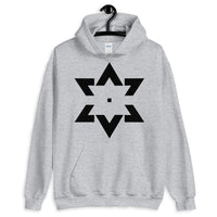 Black Star of David Tips Unisex Hoodie Ends Ethiopian Falasha Abyssinian Kiosk Fashion Cotton Apparel Clothing Gildan Original Art