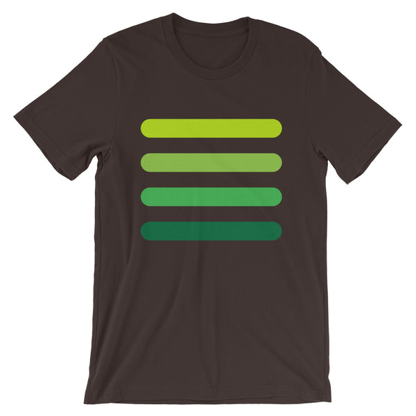 4 Green Bars Unisex T-Shirt Abyssinian Kiosk Lines Fashion Cotton Apparel Clothing Bella Canvas Original Art