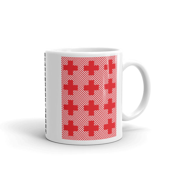 Criss Cross Red Kaffa Mug