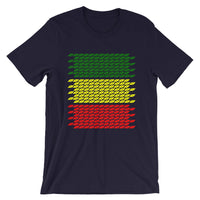 Slanted Green Yellow Red Unisex T-Shirt Ethiopian Flag Abyssinian Kiosk Abyssinia Ethiopia