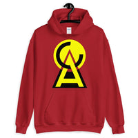 Yellow Black CA Circle Triangle Unisex Hoodie Abyssinian Kiosk Fashion Cotton Apparel Clothing Gildan Original Art