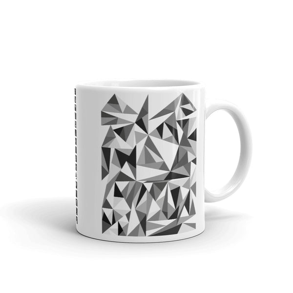 Grey Triangles Kaffa Mug