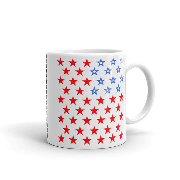 Star Spangled 2 Kaffa Mug Coffee Cup 50 Stars States United States of America American Flag Red White Blue Freedom USA Original Art Abyssinian Kiosk