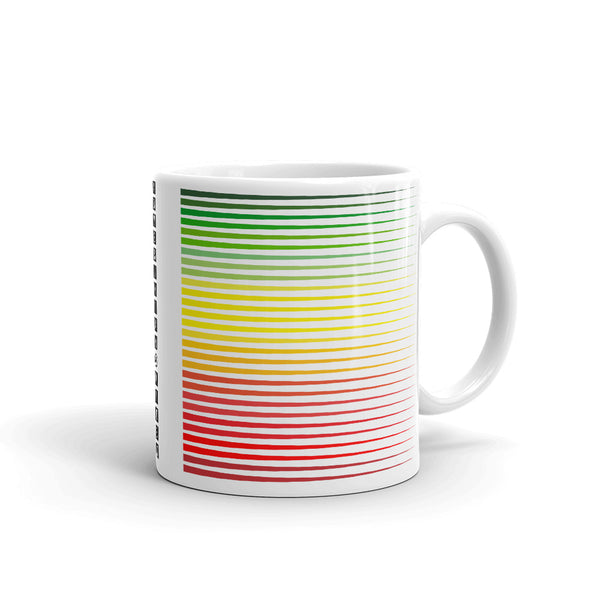 Green to Yellow to Red Streaks Kaffa Mug