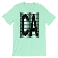 Black Grid CA Unisex T-Shirt Bella Canvas Original Art Abyssinian Kiosk Fashion Cotton Apparel Clothing California State America US