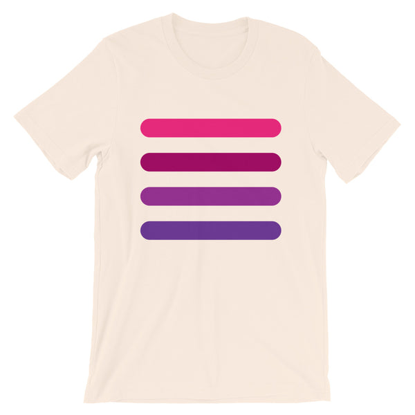 4 Pink to Purple Bars Unisex T-Shirt Abyssinian Kiosk Lines Fashion Cotton Apparel Clothing Bella Canvas Original Art