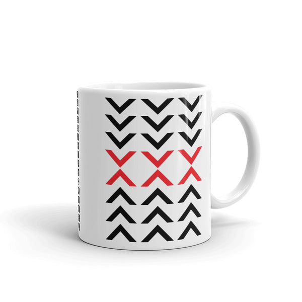 Arrows Down Up Black Red Kaffa Mug