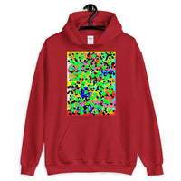 Dots Unisex Hoodie Bold Colors Abstract Art Abyssinian Kiosk Fashion Cotton Apparel Clothing Gildan Original Art