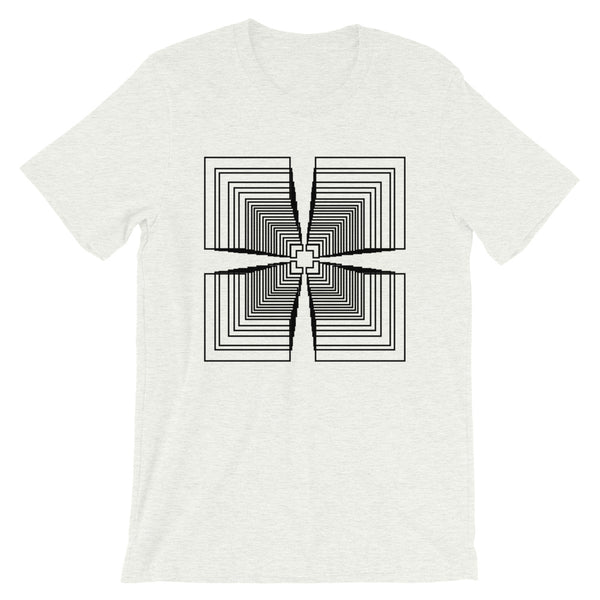 Black Mirrored Corners Unisex T-Shirt Abyssinian Kiosk Fashion Cotton Apparel Clothing Bella Canvas Original Art