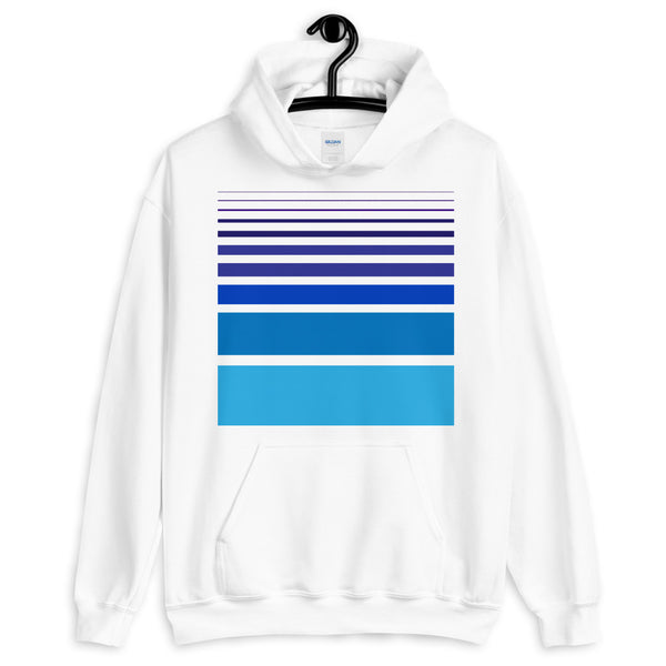 Purple to Blue Unisex Hoodie Bars and Lines Orange Abyssinian Kiosk Fashion Cotton Apparel Clothing Gildan Original Art