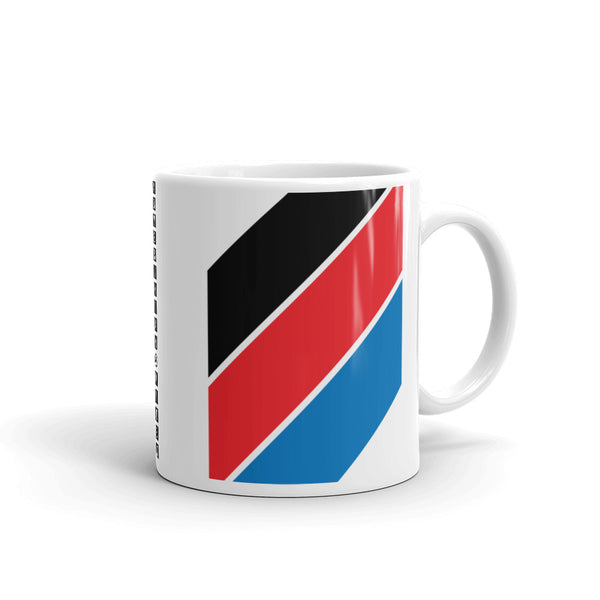 Black Red Blue Stripe Kaffa Mug