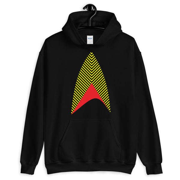 Sisko Kid Yellow Black Red Unisex Hoodie Cirroc Lofton Jake Sisko Star Trek Deep Space Nine Combadge Communicator Abyssinian Kiosk Gildan