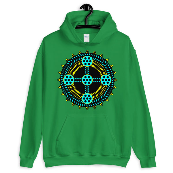 Black Cyan Yellow Cross Unisex Hoodie Abyssinian Kiosk Ethiopian Coptic Orthodox Tewahedo Christian Gildan Original Art Fashion Cotton Apparel Clothing