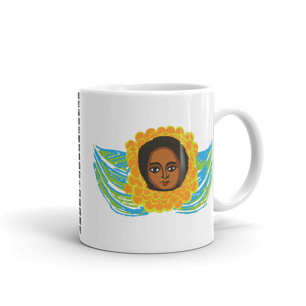 Green Blue Angel Kaffa Mug