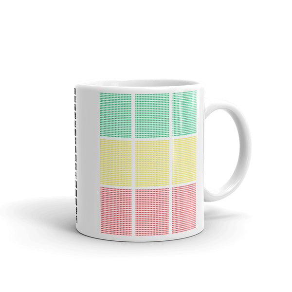 Green Yellow Red Squares Kaffa Mug