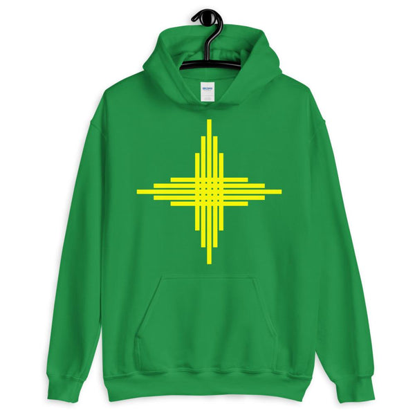 Plain Yellow Zia Sun Cross Unisex Hoodie Abyssinian Kiosk Fashion Cotton Apparel Clothing Gildan Original Art
