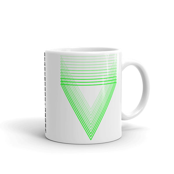Green Chiaroscuro Triangles Kaffa Mug