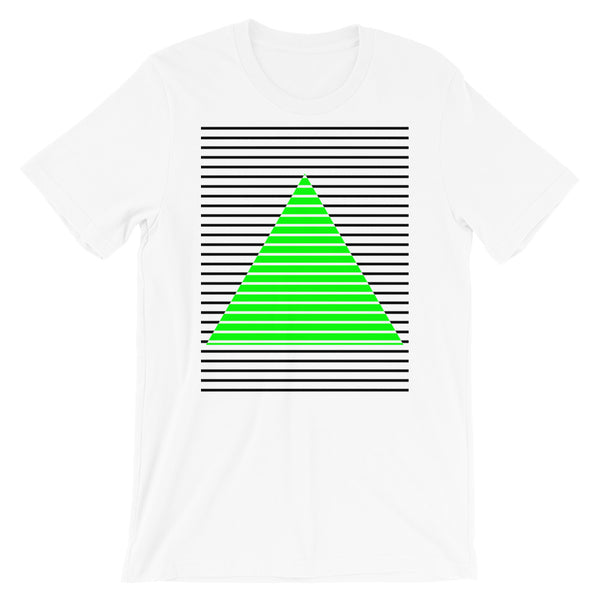 Black Green Lined Pyramid Unisex T-Shirt Abyssinian Kiosk Fashion Cotton Apparel Clothing Bella Canvas Original Art