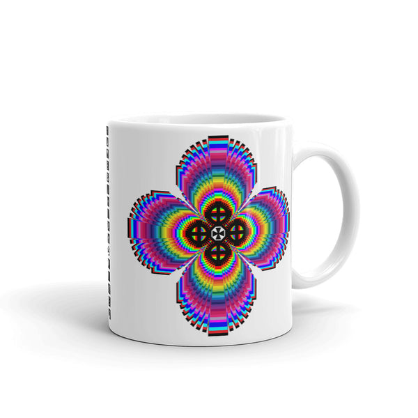 Psychedelic #9 Cross Black Kaffa Mug