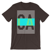 White Cyan CA Unisex T-Shirt Yellow Lines Dashes Abyssinian Kiosk California State Initials Fashion Cotton Apparel Clothing Bella Canvas Original Art