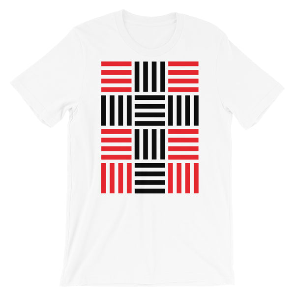 4 Lines Black Cross Red Unisex T-Shirt Abyssinian Kiosk Christian Bella Canvas Original Art Fashion Cotton Apparel Clothing