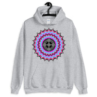 Psychedelic #14 Black Cross Unisex Hoodie Trip Trippy Colorful Abyssinian Kiosk Ethiopian Coptic Orthodox Christian Gildan Original Art Fashion Cotton Apparel Clothing
