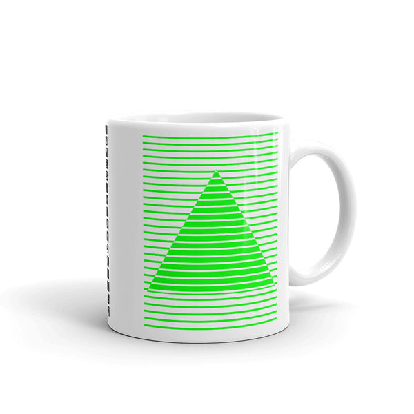 Green Lined Pyramid Kaffa Mug