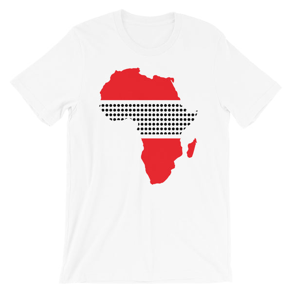 Africa Red Black Middle Dots Unisex T-Shirt Abyssinian Kiosk Fashion Cotton Apparel Clothing Bella Canvas Original Art