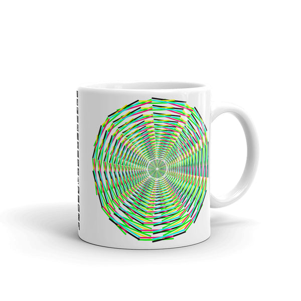 Black, Yellow, Green, Pink, Cyan Siffate Kaffa Mug
