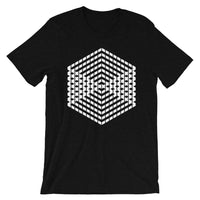 White Cube Illusion Unisex T-Shirt Abyssinian Kiosk 3D Bars Polygon Fashion Cotton Apparel Clothing Bella Canvas Original Art
