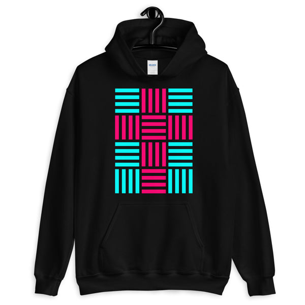 4 Lines Pink Cross Cyan Unisex Hoodie Abyssinian Kiosk Christian Gildan Original Art Fashion Cotton Apparel Clothing