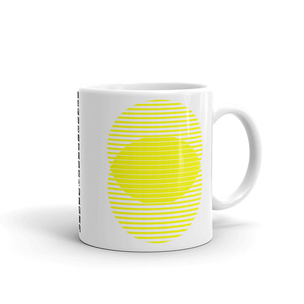Yellow Lined Circles Kaffa Mug