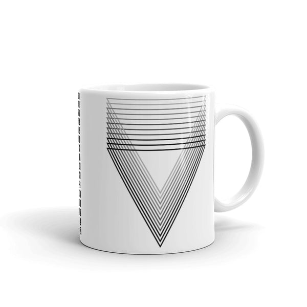 Black Chiaroscuro Triangles Kaffa Mug