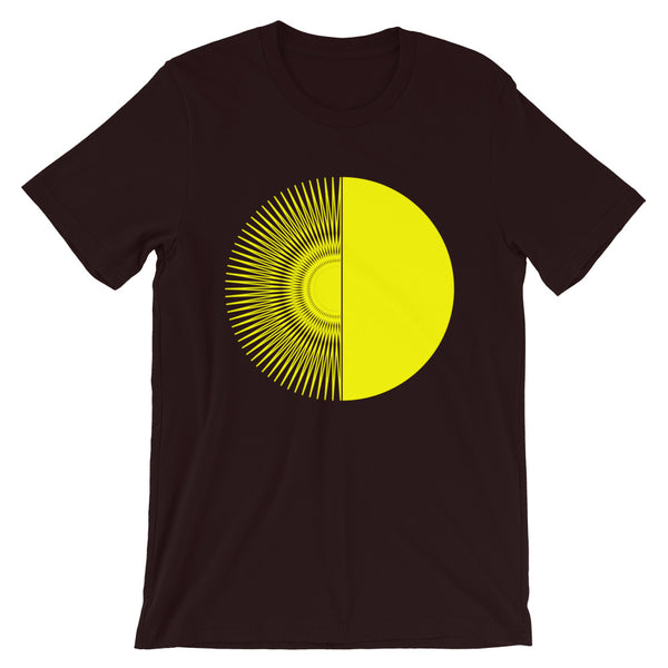 Yellow Half Star Half Circle Unisex T-Shirt Abyssinian Kiosk Fashion Cotton Apparel Clothing Bella Canvas Original Art