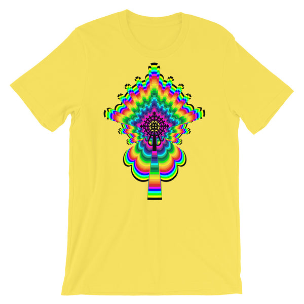 Psychedelic #2 Cross Black Unisex T-Shirt Trip Trippy Colorful Ethiopian Coptic Orthodox Abyssinian Kiosk Christian Bella Canvas Original Art Fashion Cotton Apparel Clothing