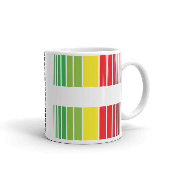 Green Yellow Red Broken Barcode Kaffa Mug