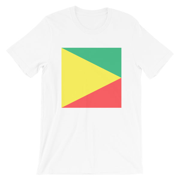 Green Yellow Red Triangle Square Unisex T-Shirt Abyssinian Kiosk Ethiopian Fashion Cotton Apparel Clothing Bella Canvas Original Art