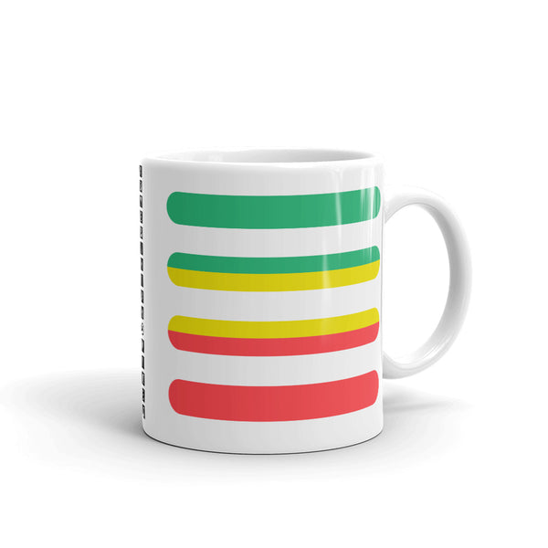 Green to Yellow to Red Bars Kaffa Mug
