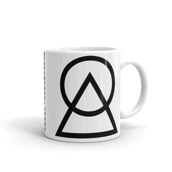 Black Circle Triangle Kaffa Mug