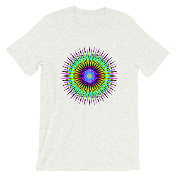 Psychedelic Star Unisex T-Shirt Trip Trippy Colorful Abyssinian Kiosk Bella Canvas Original Art Abyssinian Kiosk Fashion Cotton Apparel Clothing