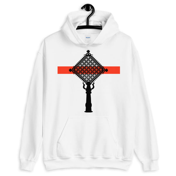 Black Cross Red Bar Hoodie Abyssinian Kiosk Ethiopian Coptic Orthodox Tewahedo Christian Gildan Original Art Fashion Cotton Apparel Clothing