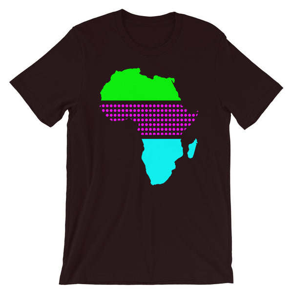 Africa Green Magenta Dots Cyan Unisex T-Shirt Abyssinian Kiosk Fashion Cotton Apparel Clothing Bella Canvas Original Art