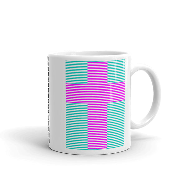 Magenta Cross Blue Green Lines Kaffa Mug