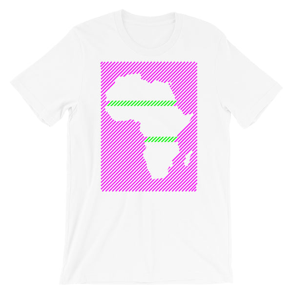 Africa Diagonal Lines Magenta Green Unisex T-Shirt Abyssinian Kiosk Fashion Cotton Apparel Clothing Bella Canvas Original Art