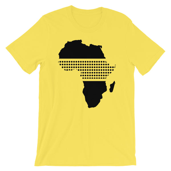Africa Black Middle Dots Unisex T-Shirt Abyssinian Kiosk Fashion Cotton Apparel Clothing Bella Canvas Original Art