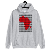 Black Squares Red Africa Unisex Hoodie Map African Abyssinian Kiosk Fashion Cotton Apparel Clothing Gildan Original Art